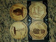 Copenhagen Wooden Coasters Set - Ltd. Edition, History Design - Set Of 4 1,2 5&6