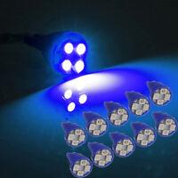 5PCS T10 501 W5W 3528 LED 4 SMD Car Side Light Interior Wedge Bulb Lamp BLUE 12V