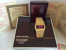 Helbros Minicom Solid State Digital RED LCD LED Rare Collectible Watch