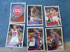 ancien cartes panini NBA Detroit Pistons 94 95 collection