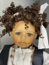 Kaye Wiggs African American Vintage Bisque Artist Doll Molly 17� Character Face!