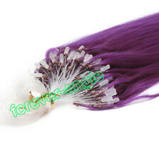 """Micro Ring Beads Tip Loop Hair Extensions 100% Real Remy Human Hair 16""""18""""20""""22"""""""