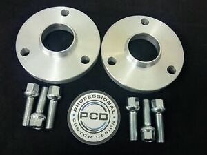 Smart 450 451 ROADSTER 3x112 Hubcentric Spacers 15mm Wide 57.1CB & 6x RAD Bolts