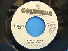 Men At Work Down Under / Same 1981 Promo VG++ 45 Single Record Columbia 38-03303