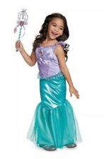 Disguise Deluxe Little Mermaid Ariel Toddler Child Costume w Wand Sz XS 3T-4T