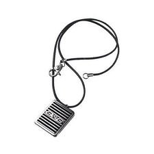 D&G Dolce & Gabbana DJ0705 RADIATOR Halskette Leder Schwarz Logo Anhänger NEU