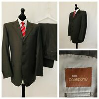 Marks & Spencer Mens Suit 44L 36W 33L Neutral Grey 100% Wool Formal  GR830