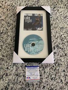 Luke Bryan Signed Autograph Born Here Live Here Die Here CD Framed PSA/DNA COA