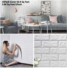 10pcs 70×77cm Wall Sticker 3d Tile Brick Self-adhesive Wallpaper Foam Panel Home
