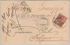 CARTOLINA d'Epoca - RIMINI provincia : San Giovanni in Marignano 1907