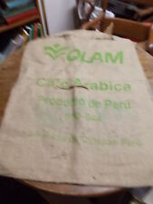 LARGE OLD VTG COFFEE SACK (FEED SACK SIZED), OLAM CAFE ARABICA PRODUCT OF PERU