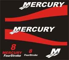 Adesivi motore marino fuoribordo Mercury 8 hp four stroke  optimax barca