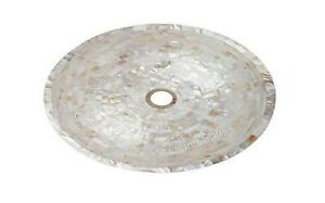 White Marble Bathroom Accessory with Mother of Pearl Hand Overlaid Kitchen Sink
