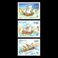 Monaco 1992 - EUROPA Stamps - Discovery of America by Columbus - Sc 1814/6 MNH