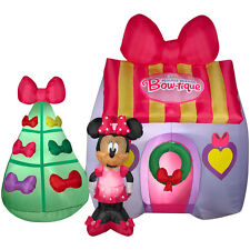 CHRISTMAS DISNEY MINNIE MOUSE BOW-TIQUE HOUSE INFLATABLE AIRBLOWN YARD DECOR