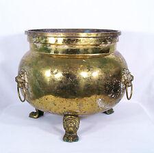 Antique Russian Brass Cashe Pot 19th Century