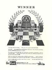 """Vintage & Rare 1961 Go-Kart 800 """"Winner"""" Go-Kart Ad"""