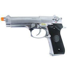 WE-Tech GBB-418S M9 Full Metal PTP Airsoft Green Gas Blowback Pistol - Silver