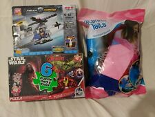 Blankie Tails blanket, Block Tech toy set & Star Wars Avengers puzzle set - New!