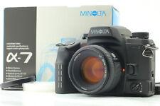 【N MINT++ in Box】 Minolta α-7 a-7 35mm SLR Camera + AF 50mm F1.4 Lens JAPAN #769