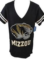 NEW Missouri Tigers MIZZOU Womens Sizes S-M-L-XL Black V-Neck Shirt