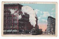 c1907 SYRACUSE NY STEAM TRAIN DOWNTOWN LOCOMOTIVE VINTAGE POSTCARD NEW YORK NEWS
