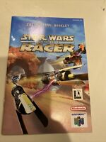 Star Wars Episode 1 Racer Nintendo N64 Instruction Booklet Manual Only (no game)