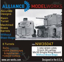 Alliance NW 35047 x 1/350  WW2 USN 5'' 38 caliber Mk 30 Single Ring wo/Blast Bag
