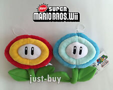 2X Super Mario Bros Plush Ice Flower & Fire Flower Soft Toy Doll Stuffed Animal
