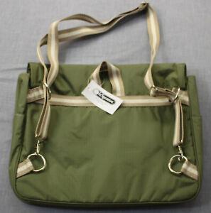 Le Sportsac Fern Green Ripstop Nylon Messenger Adjustable Bag Backpack NWT  $104