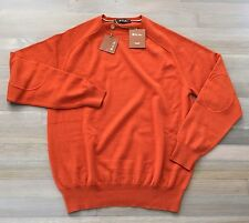 985$ Loro Piana Orange Cashmere sweater Size 58 or XXXL Made in Italy