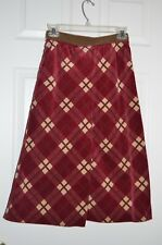 NWT D&G DOLCE GABBANA SKIRT Plaid Tartan Velveteen XS Made in Italy