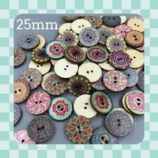 25 VINTAGE Style Buttons - OVER 1500  SOLD - Wood - 25mm - Sewing  - Crafting
