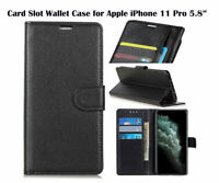 For Apple iPhone 11 Pro Screen Protector/Flip Card Slot Wallet Case