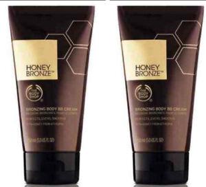 The Body Shop Honey Bronze Bronzing Body BB Cream 5.0 oz ~ 2 Pack NEW & Sealed