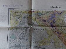 HOHENFINOW ( bei Eberswalde ) antike Landkarte von 1888 - korrekturexemplar 1924