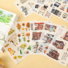 6Pcs Stickers Paper Book Stationery Bullet Journal Japanese Style Gift Diary