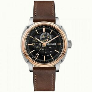 Ingersoll The Director Automatic Black Dial Brown Strap Mens Watch I09901