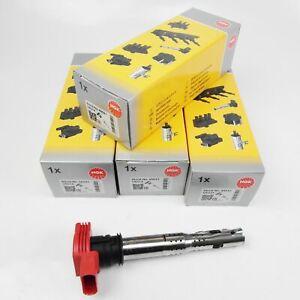 4x NGK U5014 48041 Bobine D'Allumage A4 A5 A6 A7 A8 Q7 R8 2.0 - 5.2 FSI TFSI