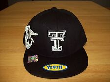 Top Of The World Texas Tech Hat - Youth Titan Adjustable - Black