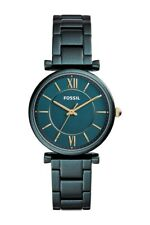 NEW Fossil CARLIE THREE-HAND TEAL STAINLESS STEEL WATCH,35 mm, ES4427,155$