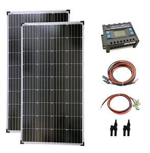 Komplettset 2x140 Watt Solarmodul Laderegler Photovoltaik Inselanlage PV