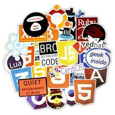 50x Waterproof Programming Language Stickers Bomb Decal set For Diy Laptop Decor