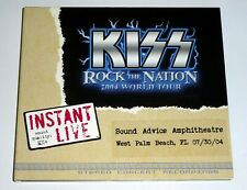 KISS Band West Palm Beach FL 2004 Rock The Nation Tour Instant Live Concert 2 CD