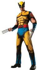 WOLVERINE X-MEN Superhero Rubies HALLOWEEN Adult Costume Muscle Chest and Mask