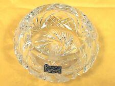 Vintage Hand Cut Lead Crystal Czech Czecho-Slovakia Bohemia Ashtray Beautiful