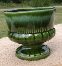 "Vintage Green Planter ~ Round 4.5""x5"" tall California Pottery F-1 A-1 USA"
