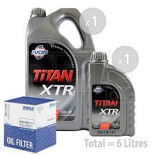 Engine Oil and Filter Service Kit 6 LITRES Fuchs TITAN XTR 5w-30 6L