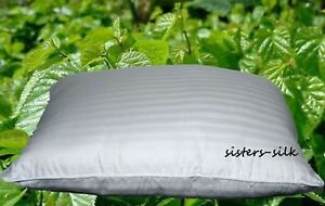 100% Mulberry Silk Filled Pillow Standard Queen King Body Baby Travel All Size