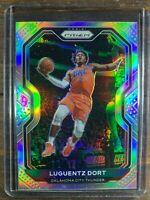 Luguentz Dort Basketball Card #31 Panini Rookie Prizm Silver SP OKC Thunder NBA